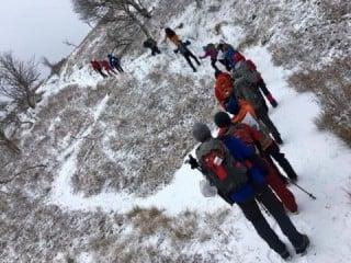 冬山は体感温度が変動しやすい