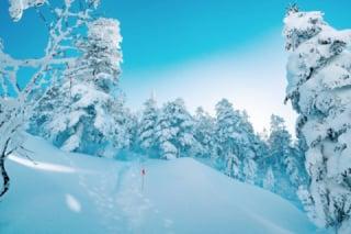 西穂高山の雪景色